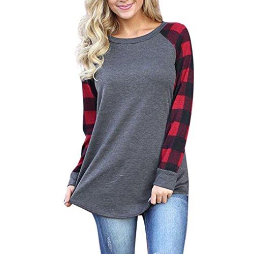 Tunic Net Beaded (TOPUNDER 2018 Women O-Neck Blouse Long Sleeve Shirt Sweatshirt Pullover Tops by)