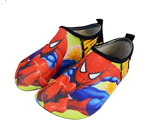 Disney Swim Shoes (Kids Water Shoes Swim Beach Shoes Baby Boys Girls Toddler Quick-Dry Barefoot Aqua Socks Shoes for Beach Pool Surfing Walking Soft (6-7.5 M US Toddler, Spiderman), Red)