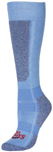 (Hot Chillys Women's Mid Volume Sock (Sky/Heather, Medium))