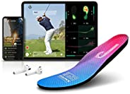 Salted Smart Insole with Golf for Android and iOS, IoT Wearable Device, IP68 Waterproof, Magnetic Charger and