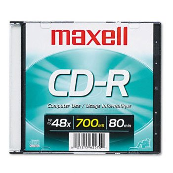 (CD-R 80 Minute (700 MB) (48x) Branded With Slim Jewel Case (648201) -)