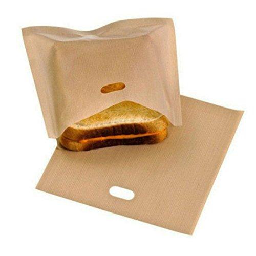 "NeeJee Non-stick Toaster Bag Toastied Oven Sandwish Reusable Baking Pocket-Pack of 2,6.7"" x 7.5"""