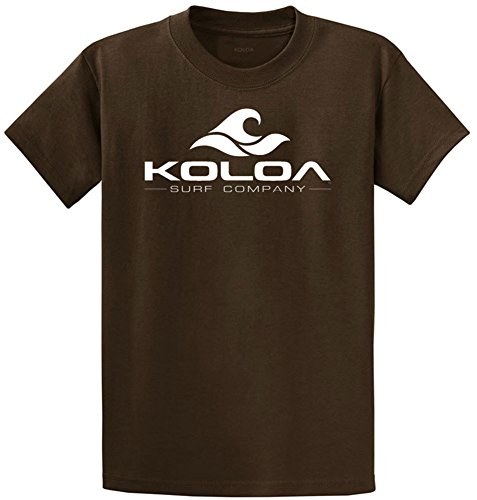 Brown Classic Logo T-shirt (Koloa Surf Co(tm) Classic Wave Logo Cotton T-Shirts-4X-Large,Brown)