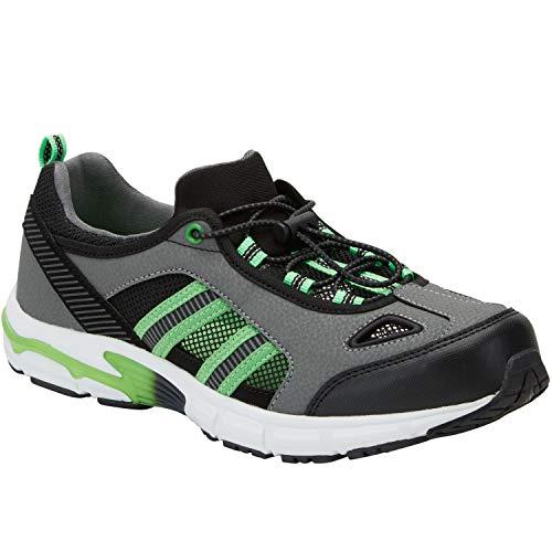 KingSize Men's Big & Tall Toggle Water Shoe, Steel Electric Green Big-15W - Electric Footwear