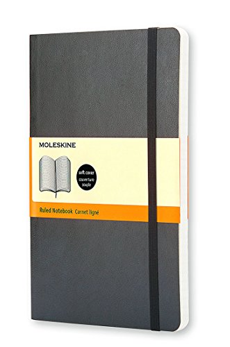 Moleskine Classic Ruled Soft Cover Notebook, Large 5 x 8.25-Inches (Classic Notebooks)