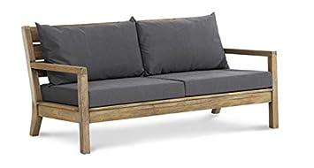Teakholz gartenmöbel modern  Amazon.de: Lounge-Sofa Gartensofa Couch 2-sitzer Teak Gartenmöbel ...