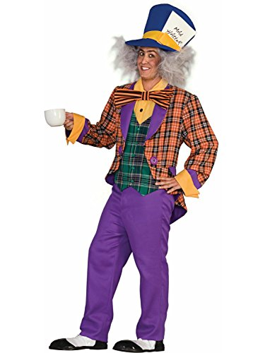 Forum Alice In Wonderland The Mad Hatter Costume, Purple/Orange, One Size -