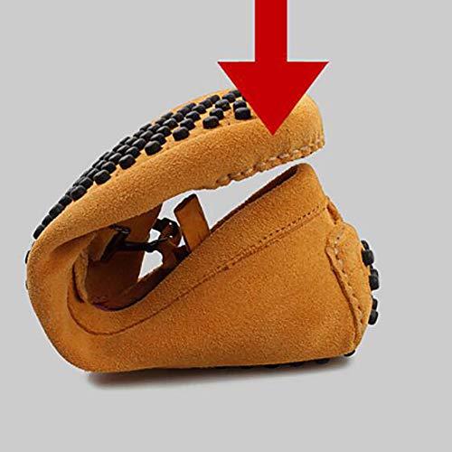 Invierno de conducción Zapatos Slip Moda de Zapatos Hombres conducción Gamuza Coche Oficina y de Barco de de para Perezosos Ante Mocasines UN on Invierno Zapatos de FI67q