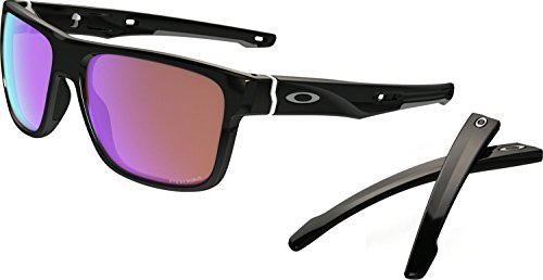 Oakley Men's Crossrange (a) Square Sunglasses, Polished Black, 57 mm by Oakley