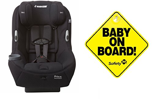 2016 Maxi-Cosi Pria 85 Special Edition Ribble Collection, Manhattan Black with BONUS Baby On Board Sign