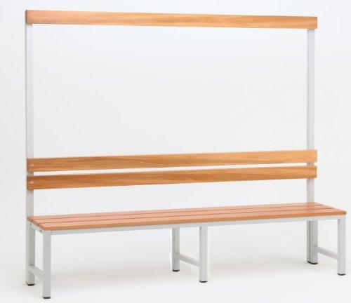 Garderoberückwand (1-seitig) + 1 x Sitzbank, HxBxT:170x200x30 cm, Marke: Szagato (Umkleidesitzbank, Umkleidebank, Garderobenbank, Bank)