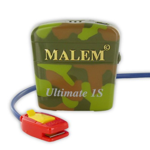 Malem Ultimate Selectable Bedwetting Alarm with Vibration - Camouflage by Malem