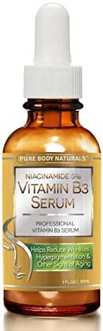 Pure Body Naturals Anti-Aging Vitamin B3 Serum 1 Fl. Oz.