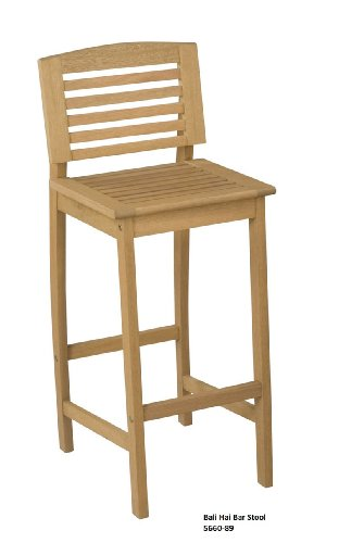 Home Styles 5660-89 Bali Hai Outdoor Bar Stool, Natural Teak Finish