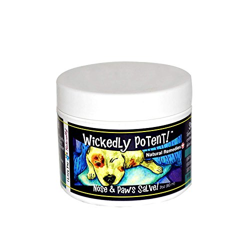 (Wickedly Potent All Natural Nose & PAW Salve for Dogs, Pet First aid for Dry Cracked paw Pads and Nose and Wound Care for Safe & Effective Healing and Soothing Herbal Concentration (1 oz))