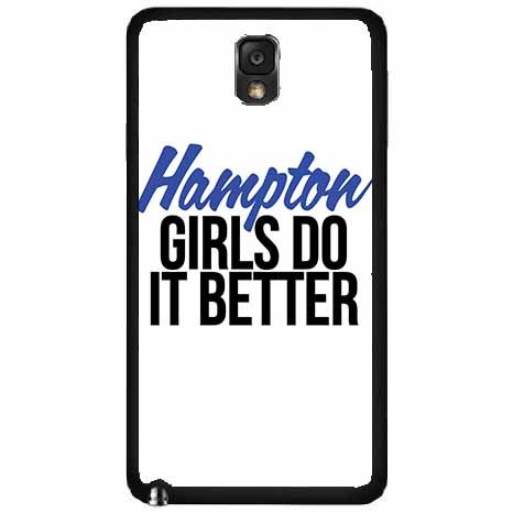 Hampton Girls Do It Better Plastic Phone Case Back Cover Samsung Galaxy Note III 3 N9002 comes with Security Tag and MyPhone Designs(TM) Cleaning Cloth