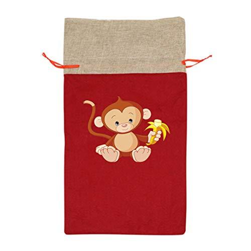 CYINO Personalized Santa Sack,Monkey_PNG_Picture Portable Christmas Drawstring Gift Bag -