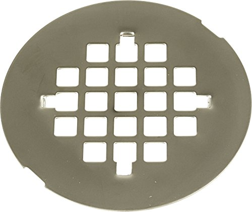 4 -1/4 inch OD Snap -in Shower Strainer (2-7/8 inch prong to prong)- PVD Pearl Nickel
