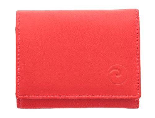 Mala Leder ORIGIN-Kollektion, kompakte Geldbörse, mit RFID-Schutz 3273_5 Schwarz Rot