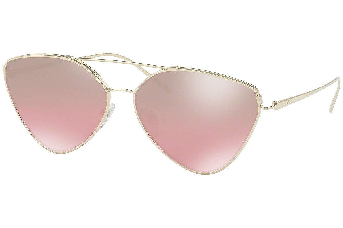 Prada PR51US Gafas de Sol Oro Pálido con Lentes de Espejo ...