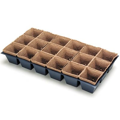 Jiffy 3'' x 3'' Pot Sheets Case of 44 Sheets (792 Pots)