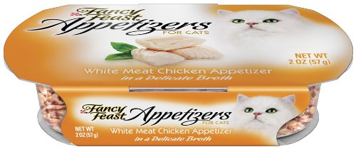 Fancy Feast Appetizers for Cats, White Meat Chicken, 2-Ounce Tubs (Pack of 10), My Pet Supplies