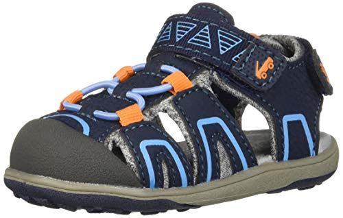 (See Kai Run Boys' Lincoln IV Sport Sandal Navy/Orange 11 M US Little Kid)
