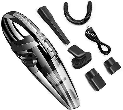 DJW car Vacuum Cleaner, Wireless car Dry and Wet Vacuum Cleaner Home Handheld Vacuum Cleaner