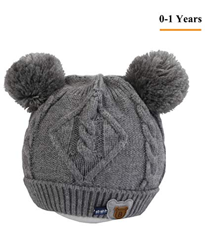 Baby Kids Winter Beanie Hat - Grey Toddler Girls Boys for sale  Delivered anywhere in USA