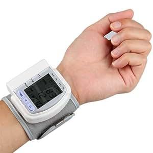 Medidor digital del pulso y la presión arterial, automático para tomar el pulso con memoria para deportistas muñeca