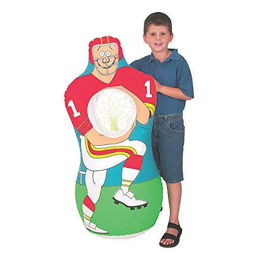 Fun Express Inflatable Football Player Catch Sports Game 1 Set Toy. 46 Inch