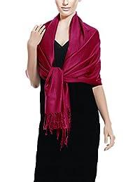 Peach Couture Warm Tartan Plaid Woven Oversized Fringe Scarf Blanket Shawl Wrap