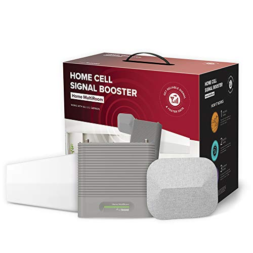 weBoost Home MultiRoom (470144) Cell Phone Signal Booster Kit | Up to 5