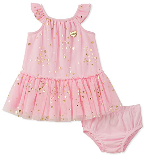 Juicy Couture Baby Girls Dress Panty Set, Pink/Gold,