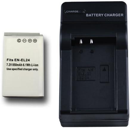 【掘出】 Nikon EN-EL24 互換バッテリー + 充電器(コンパクトタイプ) Nikon1 J5 対応