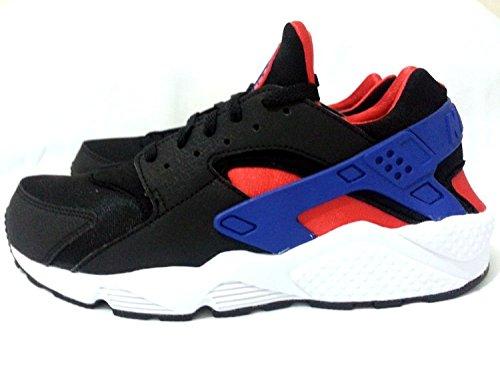 Nike Mens Air Huarache Black Blue and Red Trainer
