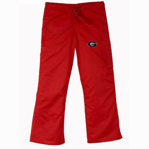 - Georgia Bulldogs NCAA Cargo Style Scrub Pant (Red)