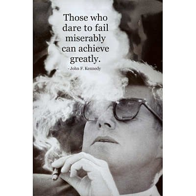 John F Kennedy Achieve Quote Art Poster Print