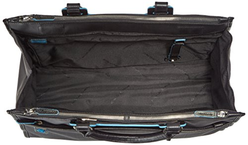 Piquadro Business Tote with Removable Notebook and iPad Mini Organizer Panel, Black, One Size by Piquadro (Image #4)