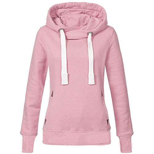 XOWRTE Women's Sweatshirt Hoodie Plus Size Solid Fall Winter Hooded Pullover Tops