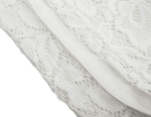 0d51a7597 DJT Womens Boat Neck Floral Lace Raglan Long Sleeve Shirt Top ...
