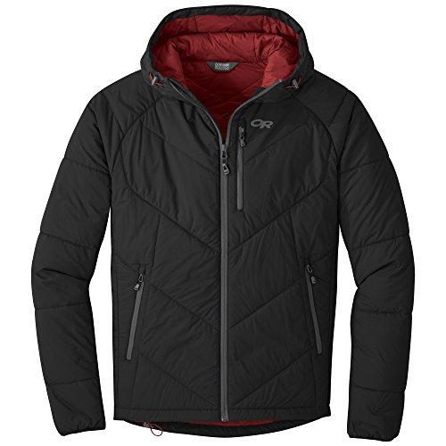 Outdoor Research Men's Refuge Hooded Jacket, Black, Large