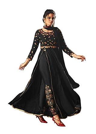 Amazon.com: Tulip Anarkali Salwar - Traje de mujer con ...