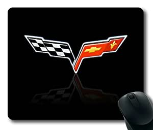 Chevrolet Corvette on Grey Rectangle Mouse Pad by eeMuse