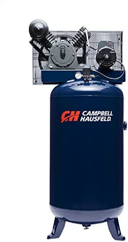 Air Compressor, 80 Gallon Vertical Two Stage 14CFM 5HP 208-230V 1PH Campbell Hausfeld HS5180