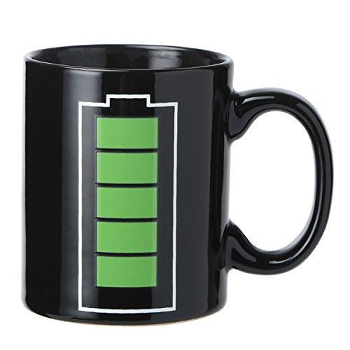 - Godyce Heat Sensitive Mug Color Changing Coffee Mug Funny Coffee Cup Magic Battery Charging Design Ceramic 12 Oz Gifts