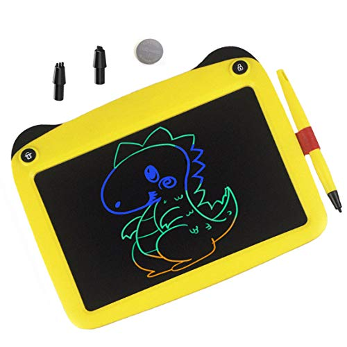 mom&myaboys Upgraded Colorful Screen 9 Inch Electronic Writing Board Doodle Board-Best Gifts for Kids (Yellow)
