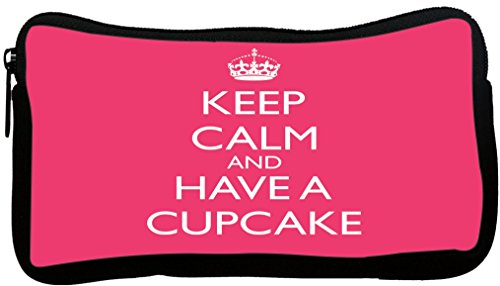 Rikki Knight Keep Calm and Have a Cupcake - Tropical Pink...