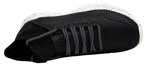 WENN FÜHLEN Sie Men Fashion Casual Slip Beständig High Top Sneakers Wanderschuhe Schwarz
