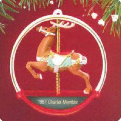 Hallmark Carousel Reindeer 1987 Ornament (Hallmark Keepsake Ornament Collector's Club)